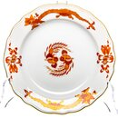 Cake plate red dragon pattern Meissen New Cutout 1st...