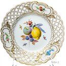 pierced fruit plate fruit painture insects & flowers...