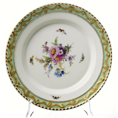 dinner plate small dinner plate KPM Berlin Kurland Flowers and Insekts 1st Choice MINT Condition