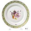 dinner plate Dinnerplate KPM Berlin Kurland Flowers and...