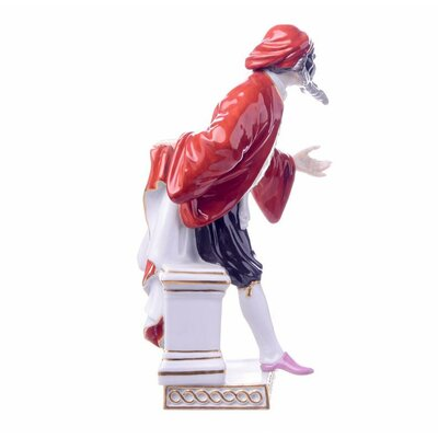 Figurine    Pantalone    Meissen    Commedia del Arte    painted     2nd Choice     MINT Condition