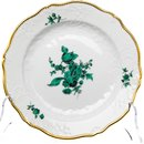 Cake  plate copper green flowers painture Meissen New...