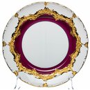 cake plate purple with gold Meissen B-form 2nd Choice...