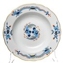 soup plate blue dragon with red points and gold Meissen...