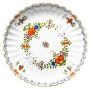 bowl Indian flower painting, two parts, multicol. w....