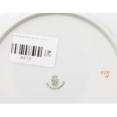 cake plate paradies birds Nymphenburg Rokoko form D230 1st Choice after 1940 (18,8cm)