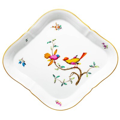 cake platter paradies birds Nymphenburg Rokoko form D276 1st Choice after 1940 (28cm)