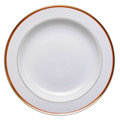 soup plate with coral red edge Meissen Boerner Service 2nd Choice after 1930 (24,8cm)