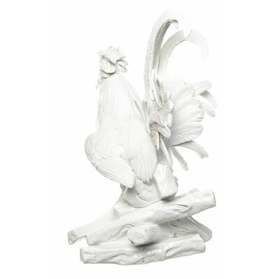 figurine cock on pile of wood Meissen Animals 1st Choice N/A hight:39,5cm
