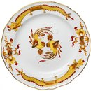 dinner plate yellow red rich dragon Meissen New Cutout...