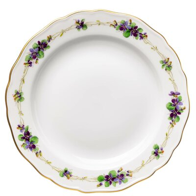cape plate viola pattern Meissen New Cutout 2nd Choice after 1940 (18,5cm)