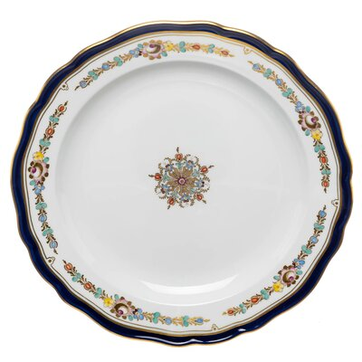 desert plate colored garland pattern Meissen New Cutout 1st Choice after 1924 (22cm)