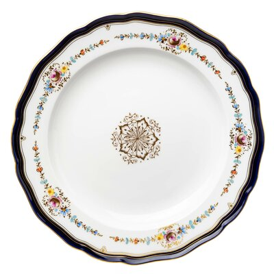 dinner plate colored garland pattern Meissen New Cutout 1st Choice after 1900 (25cm)