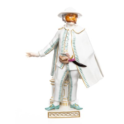 figurine Brighella Meissen designed by Johann Joachim Kändler Commedia del Arte 2nd Choice form 64560 after 1970 hight:17cm