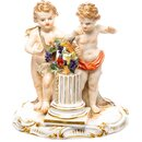 figurine boy and girl with bird Meissen designed by...