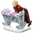 figurine girl with cradle Meissen designed by Konrad...
