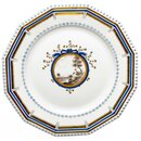 dinnner plate with landscape view Nymphenburg Pearl...